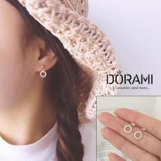 Bông tai nữ nhỏ xinh đính đá mẫu mới 2019 phụ kiện trang sức làm quà tặng thời trang hàn quốc BTHK70 – dorami