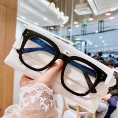 Kính cận thời trang mắt vuông phong cách Hàn Quốc bảo vệ mắt chống ánh sáng xanh bảo hành 12 tháng lỗi 1 đổi 1 – Kính không độ có thể thay được tròng cận 017