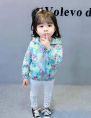 Áo khoác hoa cho bé gái 4-8 tuổi nữ tính – AK003