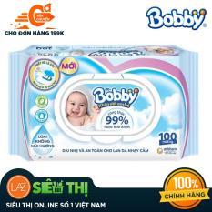 [Siêu thị Lazada] – Khăn ướt trẻ em Bobby Care không mùi hương gói 100 miếng
