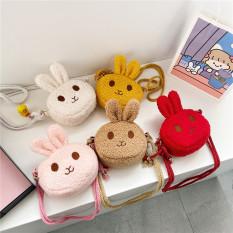 Túi đeo chéo cho bé gái mini ZAKUDO dễ thương, ngộ nghĩnh, thời trang hình THỎ phong cách Hàn Quốc TX25