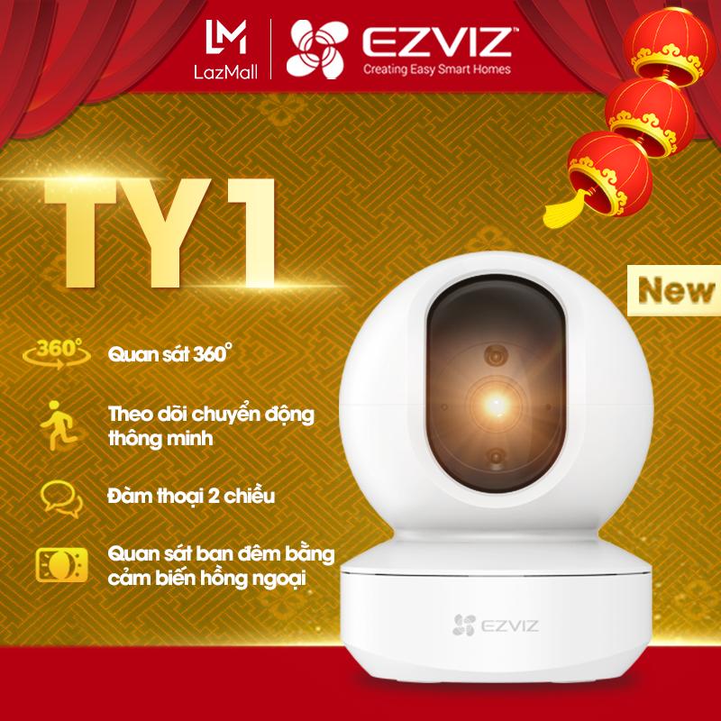 Camera wifi EZVIZ TY1 âm thanh sống động hình ảnh sắc nét vượt trội, đàm thoại 2 chiều xoay 360 độ, phát hiện và theo dõi chuyển động thông minh, chế độ một chạm khoanh vùng bảo vệ sự riêng tư