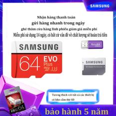 [Giảm giá / triết khấu 12% ] Thẻ nhớ Micro SD Thẻ nhớ Class 10 Samsung EVO Plus 64GB U3 4K- W60MB-R100MB With Adapter kèm Adapter