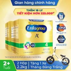 [GIẢM THÊM 100K] [FREESHIP HỎA TỐC HCM&HN] Bộ 2 hộp sữa bột Enfagrow 4 cho trên 2 tuổi 2.2kg (4 túi thiếc 550g) – Tặng 1 xe thăng bằng trị giá 600k