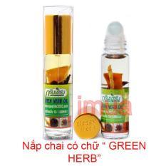 Dầu gió Thái Lan Green Herb Oil 8ml từ thảo dược nhân sâm