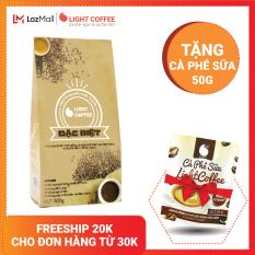 [TẶNG CÀ PHÊ SỮA 50G] Cà phê bột 100% nguyên chất Light coffee loại Đặc biệt , vị đậm , đắng , mạnh , không tẩm ướp hương liệu – Gói 500g