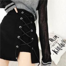 Chân váy đan chéo dây buộc nơ