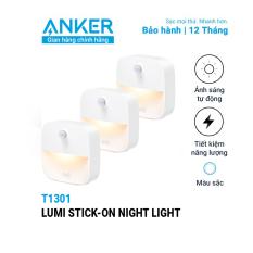 [Nhập ELJUL21 giảm 10% tối đa 200k đơn từ 99k]Bộ 3 đèn EUFY Lumi Stick-On Night Light 0.1W (by Anker) dùng pin AAA – T1301 – Đèn tự động tắt/mở theo ánh sáng môi trường dễ dàng lắp đặt và có thể dán lên bất kỳ đâu