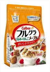 Ngũ cốc calbee màu cam 700g Date T3.2020: Óc Chó, Mâm Sôi, Việt Quất, yến mạch…