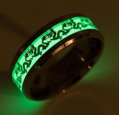 Nhẫn nam dragon dạ quang phát sáng – Nhẫn nam dạ quang phát sáng phong cách Âu Mỹ