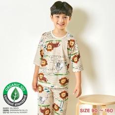 Đồ bộ lửng tay mặc nhà cotton giấy cho bé trai U2009 – Unifriend Hàn Quốc, Cotton Organic