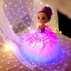 [Tặng 3 pin AA] Đèn lồng công chúa cho bé gái – Đèn trung thu búp bê Chibi có đèn 3 chế độ – Smart Baby