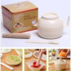 Bộ dụng cụ chế biến ăn dặm kiểu Nhật 7 món sản phẩm thông minh tiện dụng mang lại bữa ăn ngon lành ý nghĩa cho bé.