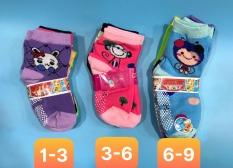 [HCM]Combo 6 và 12 đôi tất vớ bé gái trẻ em 1 đến 9 tuổi có hạt nhựa silicon chống trượt giao hàng nhiều màu khác nhau ảnh thật bảo đảm giao đúng hàng 1236