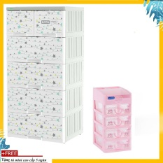 Tủ nhựa KATA 5 tầng- TẶNG KÈM TỦ MINI 5 TẦNG