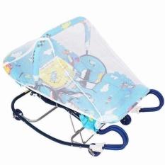 Nôi nhún cho bé sơ sinh nằm chịu lực 30 kg ( họa tiết ngẫu nhiên ) – Tặng 01 bộ thú bông treo nôi