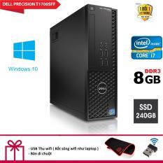 Máy tính để bàn Dell Precision T1700 SFF CPU intel core i7 4770 – Ram DR3 8GB – Ổ cứng SSD 240GB. Tặng bàn Di chuột và USB Thu Wifi.
