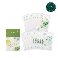 [Mua 13 tặng 05] Bộ mặt nạ giúp cấp nước, làm dịu và dưỡng ẩm Innisfree My Real Squeeze Mask Set- Aloe, Green Tea, Tree (18 Miếng)