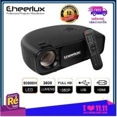 Máy chiếu phim projector Cheerlux Cl760 ,nâng cấp 2019 xem nét 150 Inch, hỗ trợ Full HD 1080p, đèn Led 150W, 3600 Lumens sáng rõ, hỗ trợ Zoom điện tử.