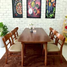 [Freeship] [Trả góp 0%] Bộ Bàn ăn 4 ghế Cacao IBIE 1m2 gỗ cao su phong cách Bắc Âu Scandinavian theo lối sống tối giản, kích thước, màu sắc tùy chọn. Gia công tỉ mỉ, chất lượng xuất khẩu. Bảo hành 12 tháng, miễn phí vận chuyển TPHCM