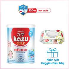 [Tinh tuý dưỡng chất Nhật Bản] Sữa bột KAZU MIỄN DỊCH GOLD 350g 2+
