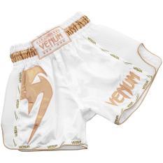 Quần Muay Thai Venum Giant – White/Gold