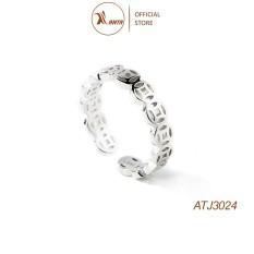 Nhẫn bạc 925 cao cấp Kim tiền bản mỏng, thời trang nữ đẹp – ANTA Jewelry ATJ3024