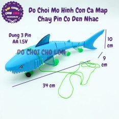 Đồ chơi mô hình con cá mập bằng nhựa chạy pin có đèn nhạc 773