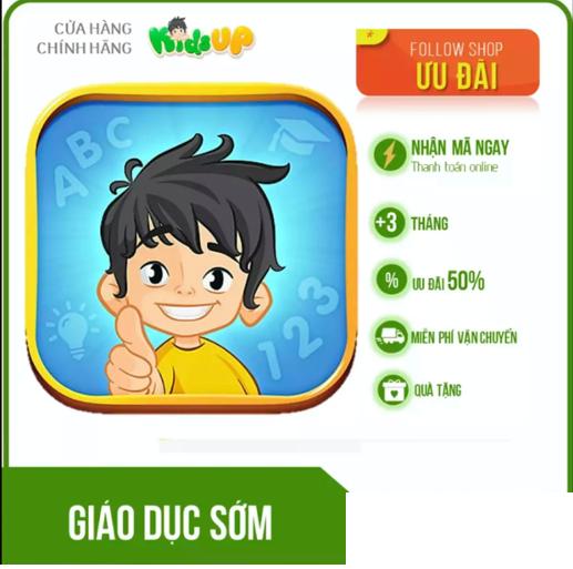 KIDSUP (Trọn đời, 1 năm) – Chương trình giáo dục sớm Montessori