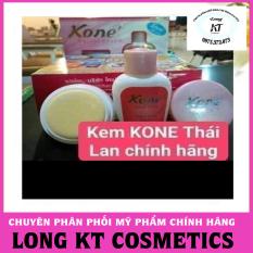 (Hàng chuẩn Thái lan giá sĩ) Set gồm: chai nước thần + kem Kem Facial cream kone Thái Lan được chiết xuất từ sữa dê & hoa hồng giàu vitamin A, C, D & E Trị nám, tàn nhang, mụn, dưỡng ẩm cao, giúp da mịn màng