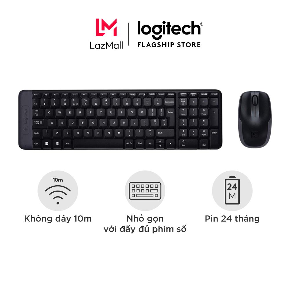 ombo chuột phím không dây Logitech MK215 – nhỏ gọn với đủ phím số, 1 đầu thu USB, không dây 10m, pin 2 năm