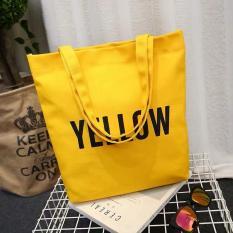 Túi tote canvas đeo vai thời trang Hàn Quốc AT03- COLOR – The Hills (Nhiều Màu)
