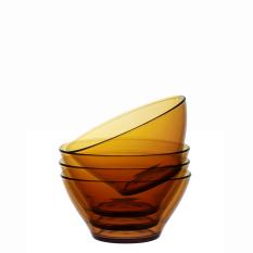 Bộ 4 tô thủy tinh cường lực Pháp Duralex Lys Vàng Amber 13.6cm
