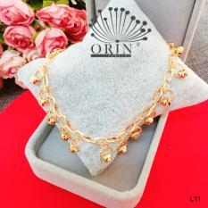 Lắc chân nữ mạ vàng bi tua rua thiết kế cao cấp Orin L11