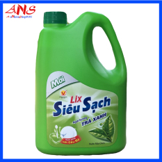 Nước rửa chén Lix Siêu Sạch hương trà xanh 1.5kg