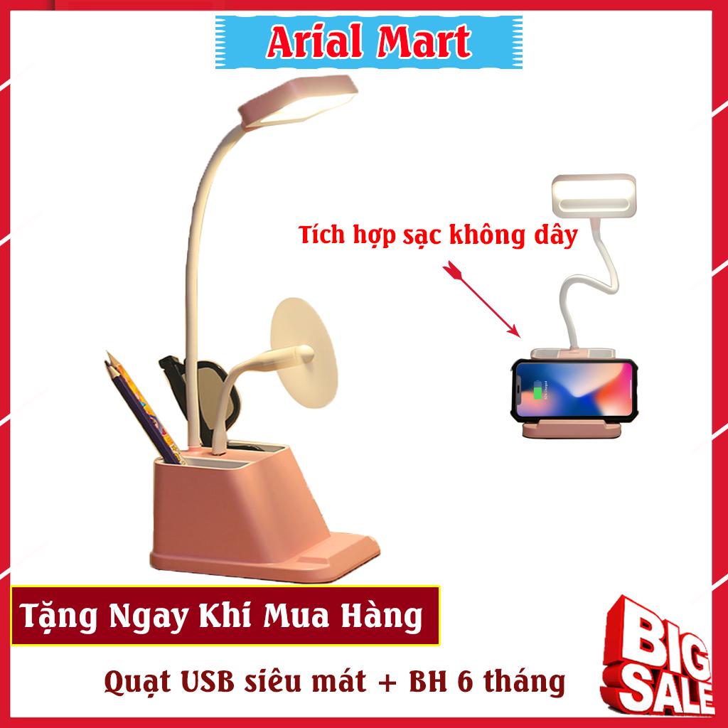 Đèn học để bàn chống cận thị đa chức năng tặng kèm quạt USB – Đèn học tích điện để bàn , Đèn học để bàn sạc pin, Đèn học mini, Đèn học để bàn chống cận, Đèn học