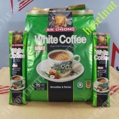 CÀ PHÊ TRẮNG VỊ HẠT PHỈ 4 TRONG 1 – WHITE COFFEE HAZELNUT 4 IN – 1 AIK CHEONG – MALAYSIA- 15 Gói * 40g