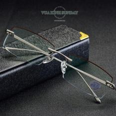 Gọng kính cận khoan titanium VD219