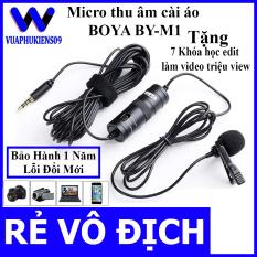 [Nhập ELMAR31 giảm 10% tối đa 200k đơn từ 99k]Boya By-M1 Mic thu âm cao cấp chuyên nghiệp cho Điện thoại Máy tính Máy quay phim