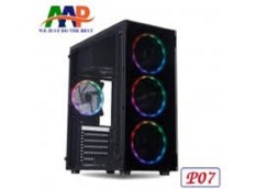 Case AAP P06 – P07 GAMING (Mặt trước có sẵn dãy LED RGB + Mặt Hông Kính Cường Lực)