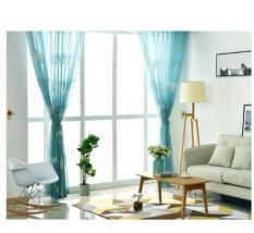 Rèm voan trang trí – voan lông vũ xanh ngọc RV0003 ( nhiều kích thước ) ayalamallvn (Mới)