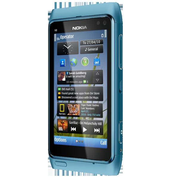 Nokia N8 cảm ứng cổ điển màn hình AMOLED siêu nét có 3G, Wifi