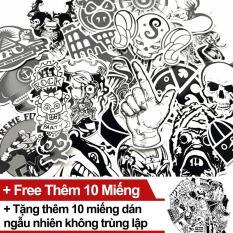 Sticker Trắng Đen – Gói 50 miếng dán tặng thêm 10 miếng