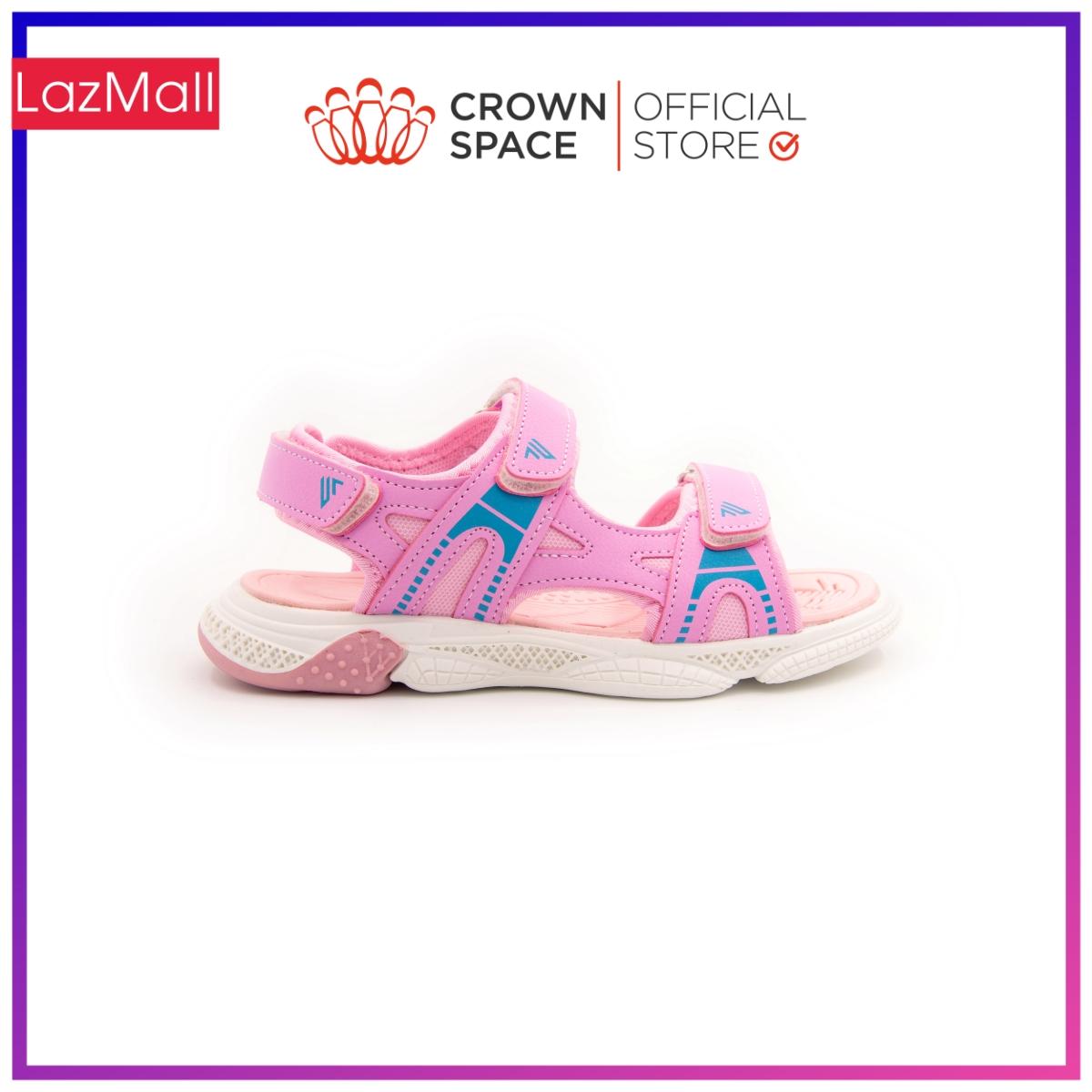 Dép Quai Hậu Màu Hồng Bé Gái Đi Học Chính Hãng Crown Space UK Sandals Trẻ em Xăng Đan Cho...