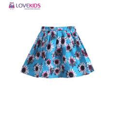Chân váy họa tiết hoa cúc xanh Lovekids.