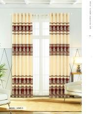 Màn Rèm Cửa Chính – Rèm Cửa Sổ – Vải Gấm HQ – Vải dày rủ đẹp – Kiểu Khoen Ore – Mẫu 1905-5 – Tuỳ chọn kích thước từ 150cm đến 500cm (Đỏ)