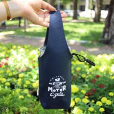 Túi vải canvas đựng bình nước Motor Cycle xe cộ giao thông Việt Nam / Túi xách nam nữ đựng bình nước