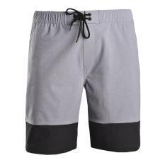 Quần short thể thao nam quần đùi thun nam polyester cao cấp Breli – BQS9011-1M-SLE (Trắng xám)