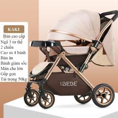 Xe đẩy trẻ em cao cấp bebe 2 chiều 3 tư thế gấp gọn khi du lịch, kiểu dáng sang trọng (Xe đẩy mới 2019)
