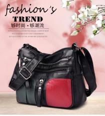 [GIẢM GIÁ 3 NGÀY] Túi đeo chéo nữ da mềm màu đỏ đen, Chất liệu Da PU siêu mềm thời trang nữ tính